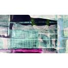 Grid Falling mint-pink
