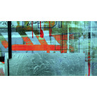 Alleys Rainy petrol-red