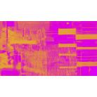 Fringe Upswept pink-orange